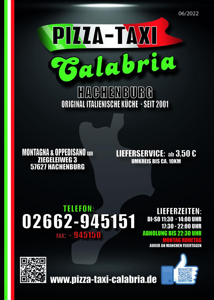 Pizza Taxi Calabria Hachenburg